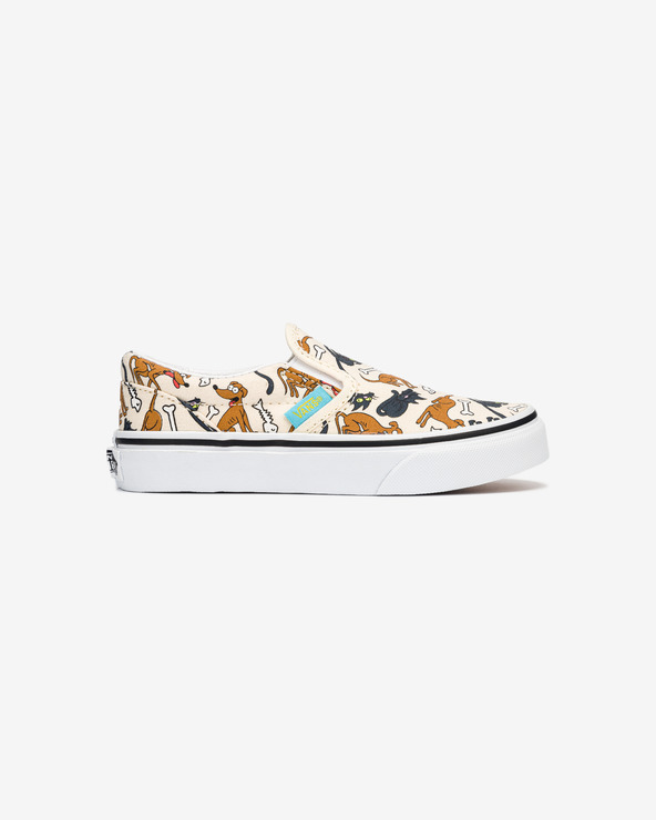 Vans The Simpsons Family Pets Classic Slip On Kinder Beige