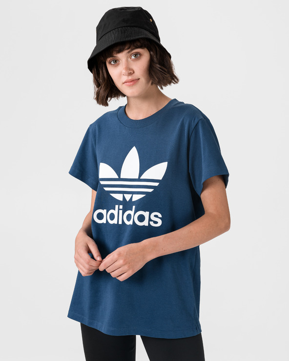 adidas Originals Boyfriend Trefoil T-Shirt Blau