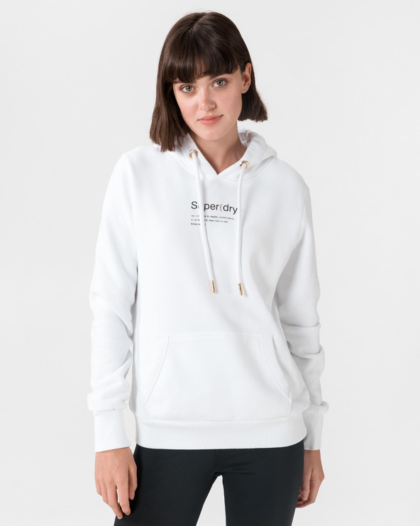 SuperDry Minimal Flagship Entry Sweatshirt Weiß