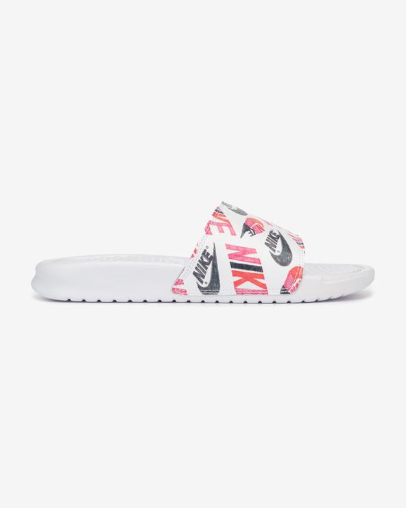 Nike Benassi JDI Pantoffeln Weiß