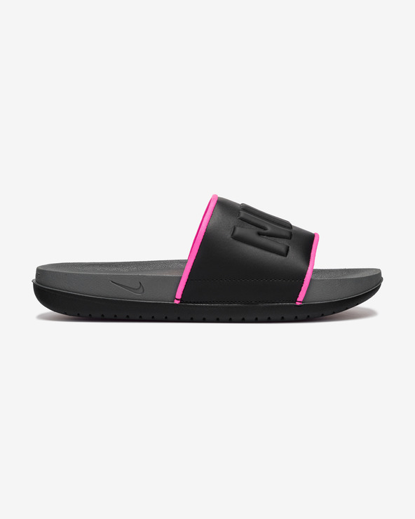 Nike Offcourt Icon Clash Pantoffeln Schwarz Grau
