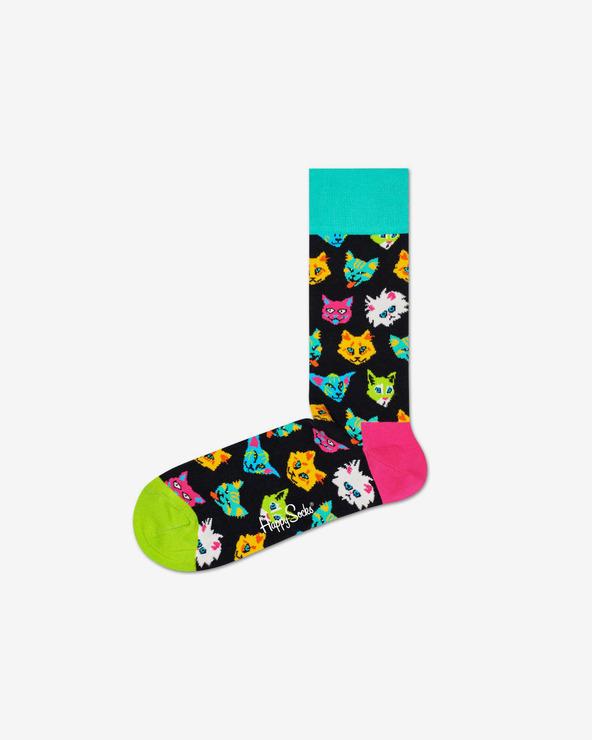 Happy Socks Funny Cat Socken Schwarz mehrfarben