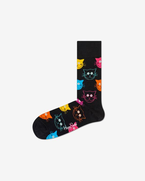 Happy Socks Cat Socken Schwarz